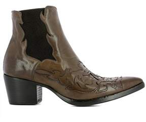 Alberto Fasciani Women's Brown Leather Ankle Boots.