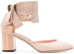 Rochas ribbon ankle tie pumps