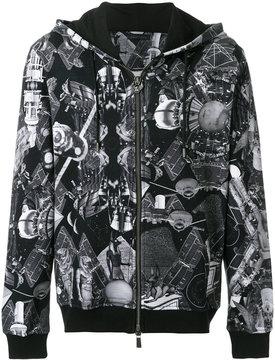 Frankie Morello space Egypt print zipped hoodie