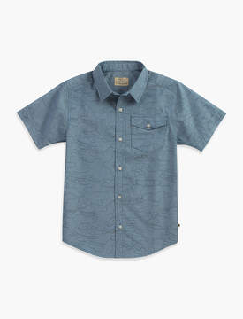 Lucky Brand CAMO OUTLINED CHAMBRAY SHIRT