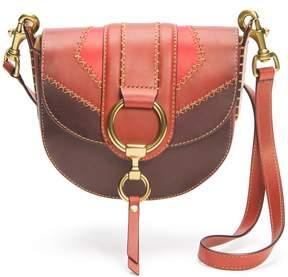 Frye Ilana Colorblock Small Saddle Bag