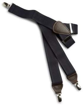 Black & Brown Black Brown Faux Leather-Trimmed Suspenders