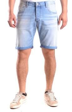 Selected Men's Blue Cotton Shorts.