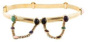 Judith Leiber Metal Embellished Waist Belt