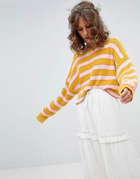Free People Striped Jumper