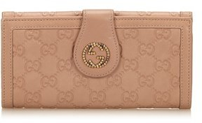 Gucci Pre-owned: Guccissima Leather Long Wallet. - BROWN - STYLE