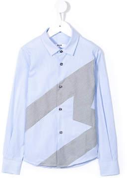 MSGM striped M logo shirt