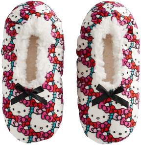 Hello Kitty Girls 4-16 Fuzzy Babba Slippers