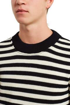Ami Black Striped Crewneck Sweater