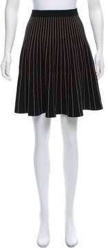 Carmen Marc Valvo Striped Knit Skirt