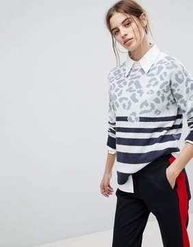 Esprit Stripe And Animal Sweater