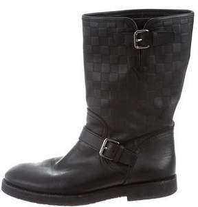 Louis Vuitton Damier Infini Leather Boots