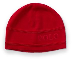 Polo Ralph Lauren Merino Wool Hat Red One Size