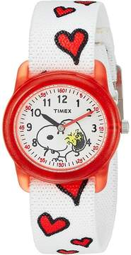 Timex Time Machines Analog X Peanuts Elastic Fabric Strap Watches