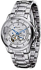 Bulova Men's Stainless Steel White Dial Automatic Watch