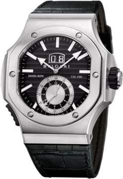 Bvlgari Endurer Chronosprint, 56mm, AUTO, bk d, SS, bk-lthAutomatic Black Men's Watch