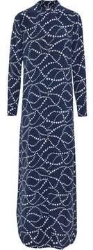 Equipment Brett Printed Washed-Silk Maxi Shirt Dress