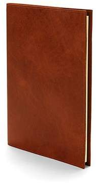 Aspinal of London Rustic A4 Refillable Leather Journal In Smooth Antique Brown
