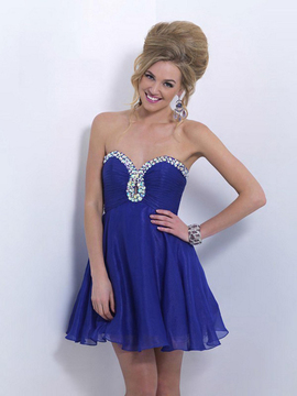 Blush Lingerie X161 Strapless Sweetheart A-line Dress