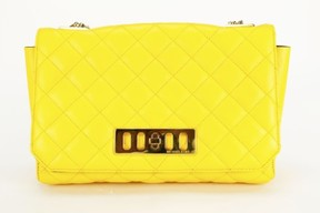 Michael Kors Womens Shoulder Bag Yellow Leather - YELLOW - STYLE