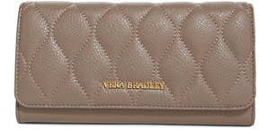 Vera Bradley Taupe Quilted Audrey Leather Wallet - TAUPE - STYLE