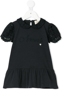 Armani Junior pleated trim blouse