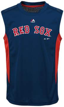 Majestic Boys 8-20 Boston Red Sox Foul Line Muscle Tee