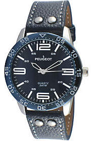 Peugeot Men's Navy Sport's Bezel Watch