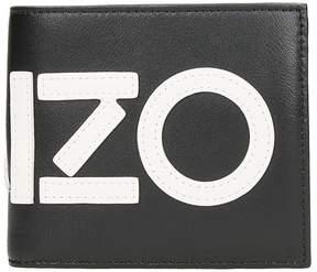 Kenzo Logo Wallet In Black Leather