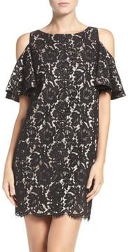 Chelsea28 Women's Cold Shoulder Lace Shift Dress