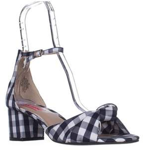 Betsey Johnson Ivee Ankle Strap Sandals, Blue Gingham.