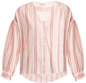 Masscob V-neck striped cotton top