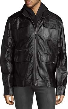Members Only Men's LTrain Full-Zip Hooded Jacket