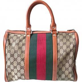 Gucci Boston cloth bowling bag - BROWN - STYLE