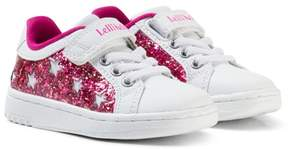 Lelli Kelly Kids White, Pink or Silver Interchangeable Star Glitter Velcro Trainers