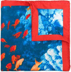 Kiton fish print scarf