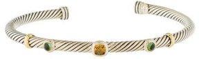 David Yurman Citrine & Peridot Renaissance Cuff Bracelet