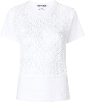 Comme des Garcons embroidered fitted top