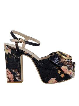Elena Iachi Notte Fabric Sandals