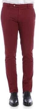 Berwich Men's Burgundy Cotton Pants.