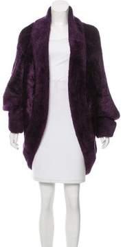 Alaia Hooded Faux Fur Coat