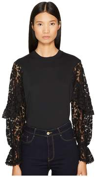 See by Chloe Embellished Long Sleeve Tee Women's T Shirt