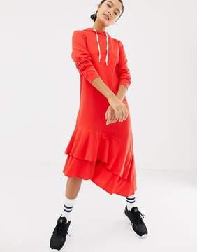 Noisy May Hoodie Dress With Asymmetric Hem