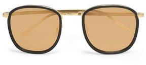 Linda Farrow Square-Frame Acetate And Gold-Tone Sunglasses