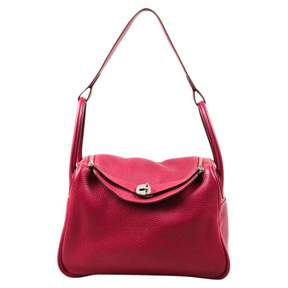 Hermes Lindy leather satchel - RED - STYLE