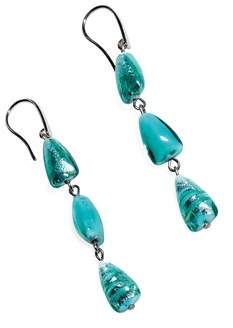 Antica Murrina Veneziana Women's Light Blue Steel Earrings.