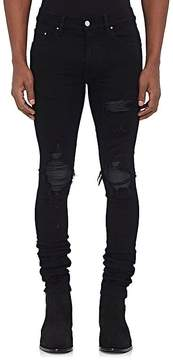 Amiri Men's MX1 Leather-Inset Slim Jeans