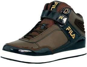 Fila Men's Displace 2 Espresso/Pinecone/Metallic Gold Ankle-High Fashion Sneaker - 8M