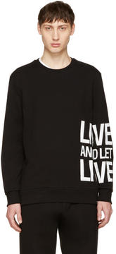 Neil Barrett Black Live and Let Live Sweatshirt