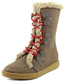 XOXO Womens Andy Leather Round Toe Mid-calf Cold Weather & Shearling.
